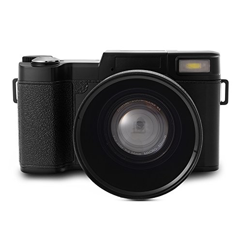 XCSOURCE 24MP Flip Screen Digital Camera FHD 1080P Video 3.0 TFT LCD Camcorder with UV Filter + Wide Angle Lens LF748