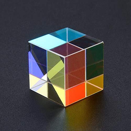 Glaze Spyglass Field Drinking Prisms Cube Prism 18x18mm Defective Cross Dichroic Mirror Combiner Splitter Decor Transparent Module Optical Glass Class Toy 1PCs