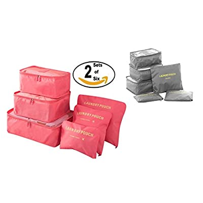 fd60b5a34204 60%OFF Travel Packing Cubes- JuneBugz Luggage Organizers + Laundry Bags