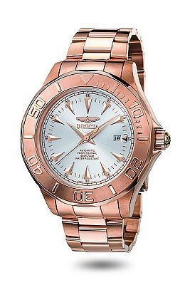 Men's 23K Rose Gold Stainless Steel Signature Ocean Ghost Silver Dial Automatic