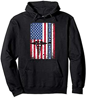 American Flag Patriotic Gift Pullover Hoodie T-shirt | Size S - 5XL