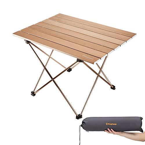 (KingCamp Ultralight Compact Folding Camping Aluminum Table with Carry Bag, Two Sizes)