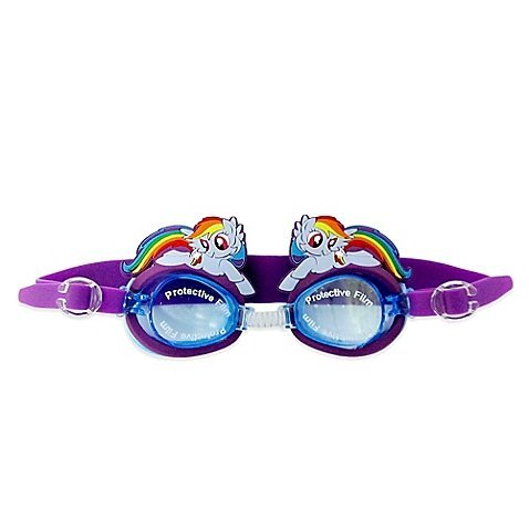 My Little Pony Adorable, Perfect Pool or Beach Fashion for Your Little One, Offers Durable Protection and Fun Style During any Water Activity, Protective Film Kids' Swim Goggles in Purple]()