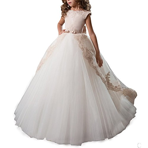 Lisa Lace A-line Flower Girl Long Gown Holy