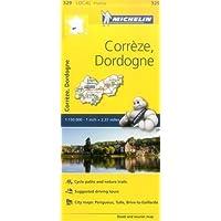 Correze, Dordogne - Michelin Local Map 329 (Mapas Local Michelin, Band 329)