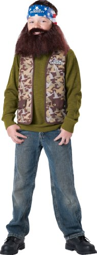 Duck Dynasty Willie Child Costume, Size (Costume Beards For Sale)