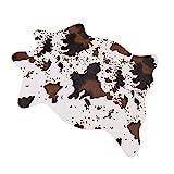 MustMat Cute Cow Print Rug Fun Faux Cowhide Area