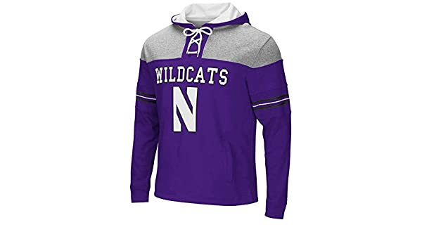 Northwestern Wildcats Adult NCAA Hockey Lace Up Hooded Pullover Fan Apparel & Souvenirs Team