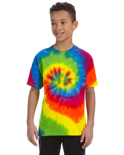 (Tie-Dyed Tie-Dye Youth 5.4 Oz, 100% Cotton T-Shirt, Large,)