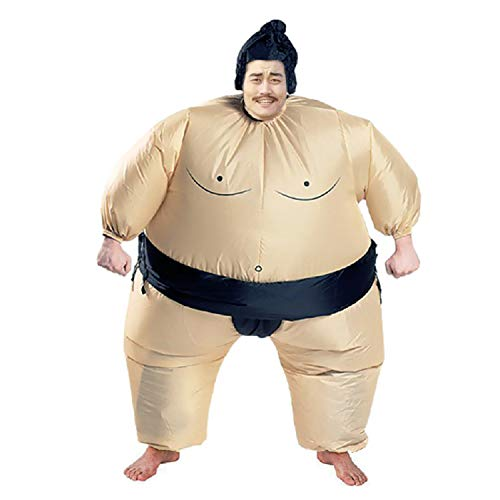 Homemade Animal Halloween Costumes For Women (Inflatable Sumo Wrestling Fat Suit Blow Up Fancy Dress Funny Costume Halloween (Sumo for)