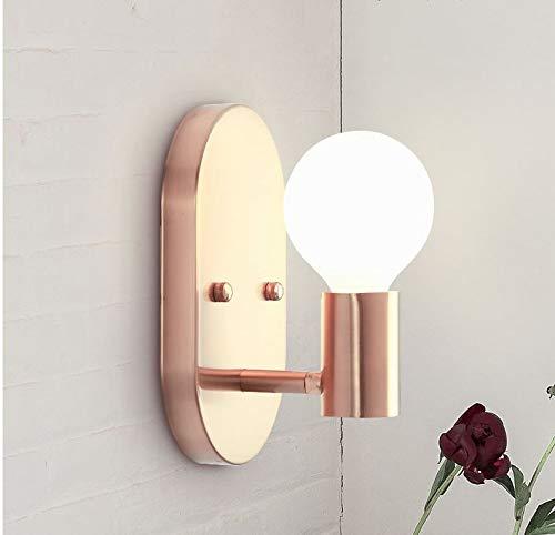 TONGBAO Nordic Bedroom Bedside lamp Wall lamp Creative Oval Metal Wrought Iron Simple Modern Aisle Corridor Wall - Floor Lamp Iron Oval