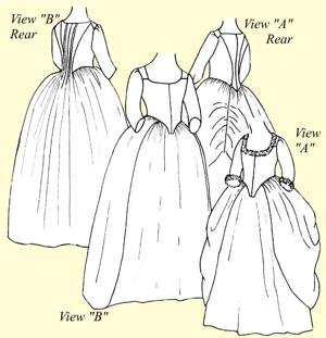 Easy Indian Costume Pattern (Robe à L'Anglaise en Faurreau or English Nightgown Pattern (Size 8))