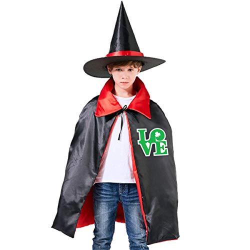 St Patricks Day Guitar - Wodehous Adonis Love Irish St Patrick's Day Kids Halloween Costumes Wizard Witch Cloak Cape Robe And Hat