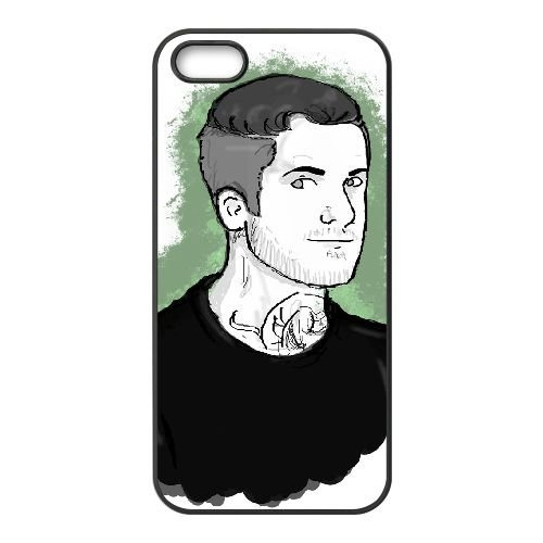 Andy Hurley 001 coque iPhone 5 5S cellulaire cas coque de téléphone cas téléphone cellulaire noir couvercle EOKXLLNCD21637