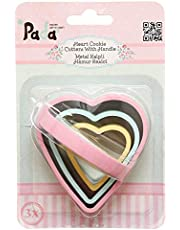 Pada PD-3340 Heart Cookie cutters With Handle - Multi color