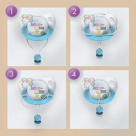 silicone plusieurs couleurs Koala /étoile Attache sucette avec nom hexagone pour fille et gar/çon
