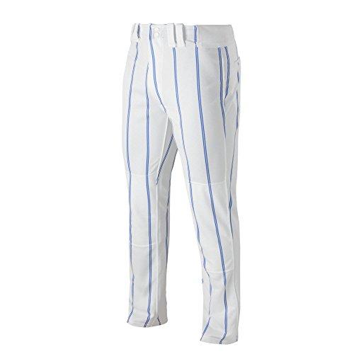 (Mizuno 350525.0052.06.L Pro Pinstripe Pant L White-Royal)