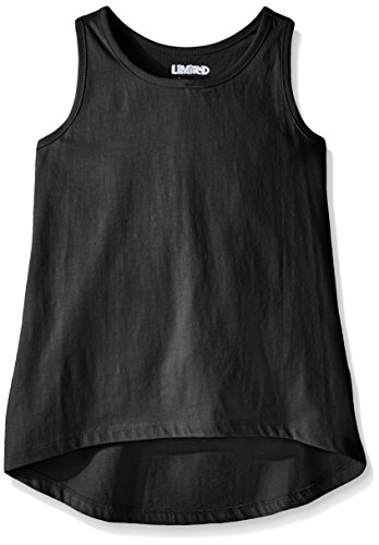 Limited Too Big Girls' Racer Back Tank Tunic Top, Black, S7/8