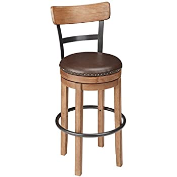 Delicieux Ashley Furniture Signature Design   Pinnadel Swivel Bar Stool   Pub Height    Light Brown
