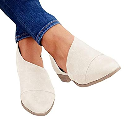 Womens Slip On Loafer Casual Pointed Toe Open Shank Trendy Cut Out Ankle Boot