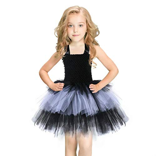 Tsyllyp Girls Tutu Dress Dance Party Birthday Princess Costumes for Halloween Christmas]()