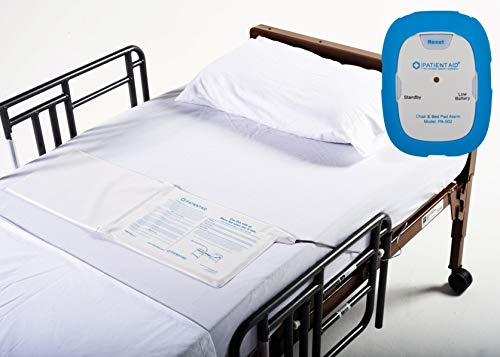 (Caregiver Alarm & Fall Prevention System with Bed Pad :: Includes Patient Monitor with Rubber Casing, 9V Battery, 3 Mounting Options, Screws & Full Instructions, 1 Yr. Warranty by Patient)