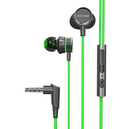 JP-DPP9 - Auriculares estéreo de 3,5 mm con clavija de bajo fuerte y clavija de auriculares Plexton G15 para juegos de PC...