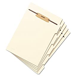 Stackable Side Tab Letter Size Folder Dividers with Fastener, 1/2\