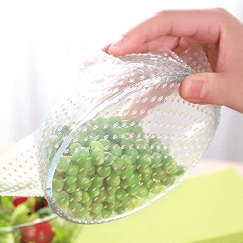 Iaywayii 4pcs Couvercle d/étanch/éit/é demballage Alimentaire en Silicone Film /étirable Frais Couverture Alimentaire Outils de Cuisine r/éutilisables WF8291035
