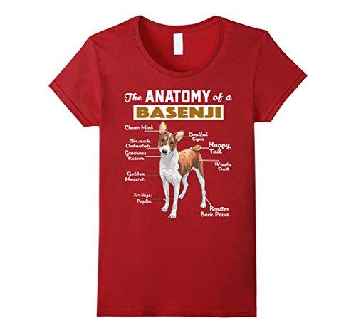 Womens The Anatomy of a Basenji Dog shirt Medium Cranberry