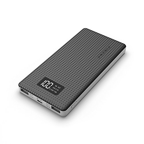 Zoweetek Pineng 10000Mah Dual Usb Digital Display Portable Power Bank  Pn 963 Black