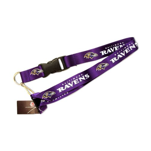 NFL Baltimore Ravens Team Color Lanyard, 22-inches, Purple