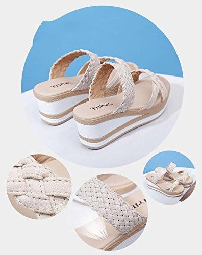 color Moda Joker Tamaño Fafz Y A Planas De Plataforma Sandalias B Verano Zapatillas Cuñas 39 Moda Sandalias Femeninas sandalias qw6xS4CwB