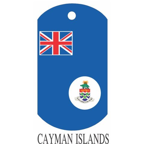 Cayman Islands Flag Dog Tags