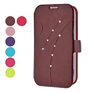 S Line Pattern Full Body Case with Rhinestone for Samsung Galaxy Note 2 N7100 (Assorted Colors) --- COLOR:Green