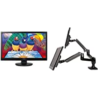 ViewSonic VA2246M-LED 22-Inch LED-Lit LCD Monitor (2-Pack) and AmazonBasics Dual Side-by-Side Monitor Arm Set