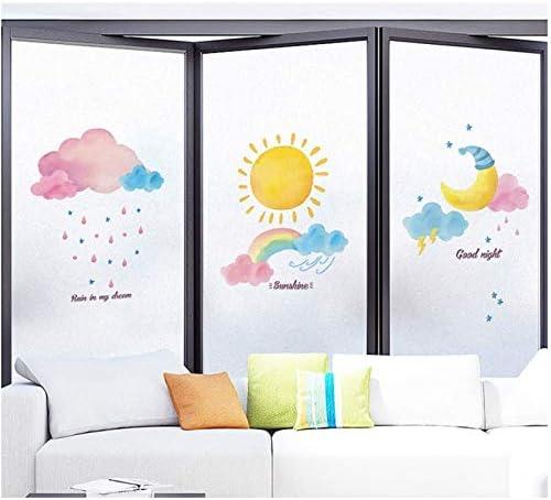 N / A Tamaño Personalizado película de Vidrio electrostática PVC decoración del hogar película de Color Puerta corredera gabinete Armario Mesa decoración del hogar Pasta de Vidrio AB441 60x100cm: Amazon.es: Hogar
