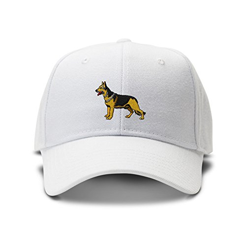 German Shepherd Dogs Pets Embroidery Adjustable Structured Baseball Hat (German Shepherd Hat)