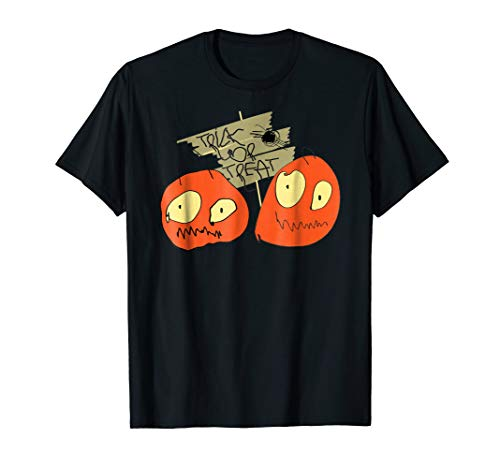 Spooky Trick or Treat Halloween Pumpkin Drawing Shirt -