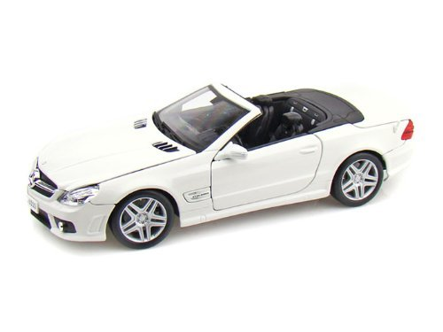 Mercedes Sl Model - 2009 Mercedes-Benz SL 63 AMG Convertible White 1:18 Scale Die Cast Model Car