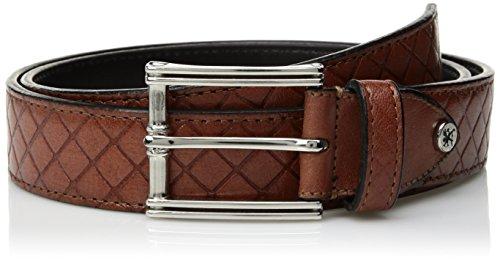 Stacy Adams Men's Webster Diamond Embossed Belt, cognac, 38