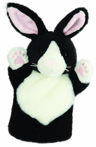 The Puppet Company CarPets Black & White Rabbit Hand Puppet