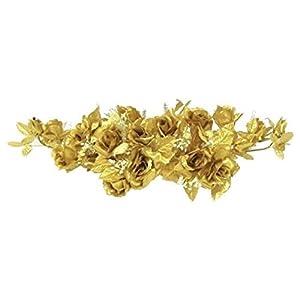 Rose Swag Gold Wedding Table Centerpiece Silk Flowers Arch Gazebo Anniverary Diy 15