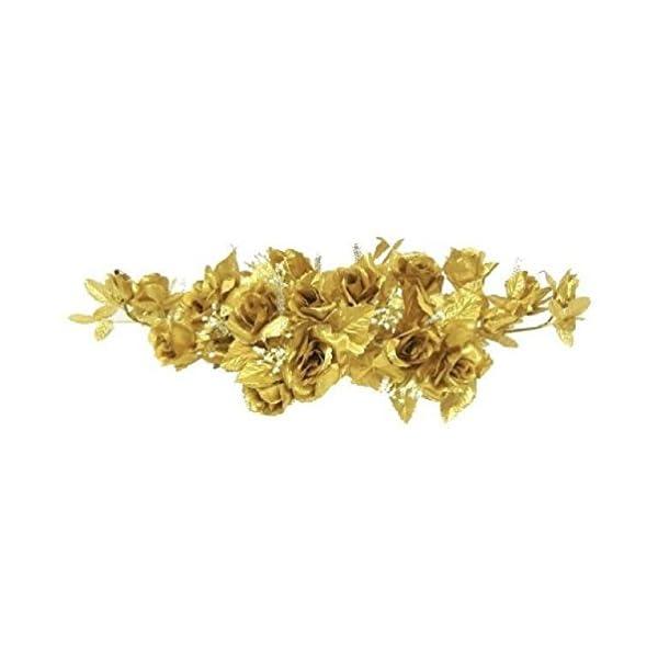 Rose Swag Gold Wedding Table Centerpiece Silk Flowers Arch Gazebo Anniverary Diy