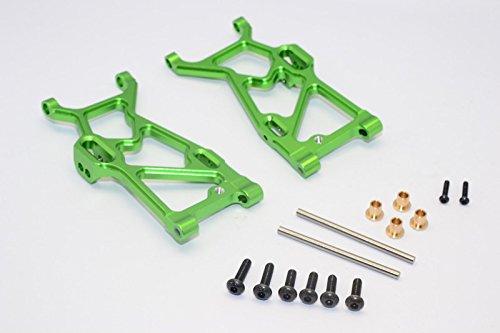 (Team Losi Mini 8ight-T Truggy Upgrade Parts Aluminum Front Suspension Arm - 1Pr Set Green )