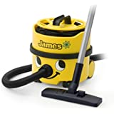 Numatic Hi-Power Canister Vacuum Cleaner with Accessory Tool Kit, JVP180-1, James (Color: Yellow)