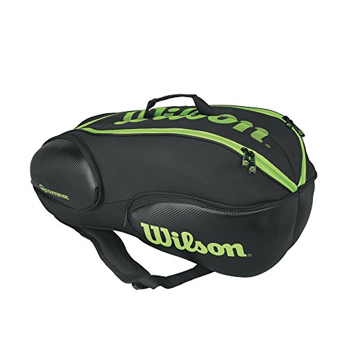 Wilson Blade Collection Racket Bag (9 Pack), Black/Green