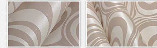 10M Modern Luxury Abstract Curve 3d Wallpaper Roll Mural Paper Parede Flocking for Striped Cream&white Color 0.7m*8.4m=5.88SQM by DAIWEI (Image #4)
