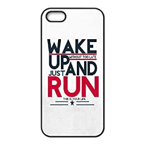 Wake Up And Run OR51UB2 funda iPhone 4 4s del teléfono celular caso funda H4OY0M1HN