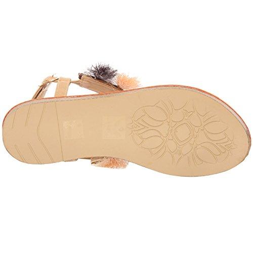 Ladies Donne Dimante Casual Sandals Back Uk Staminifera Dimensioni Ednna Infiorescenza Soiree Le Abbellito Su Unze 3 Carnevale T Sling Usura Slittamento 8 Bianco Cinghia Quotidiana aqUvw45